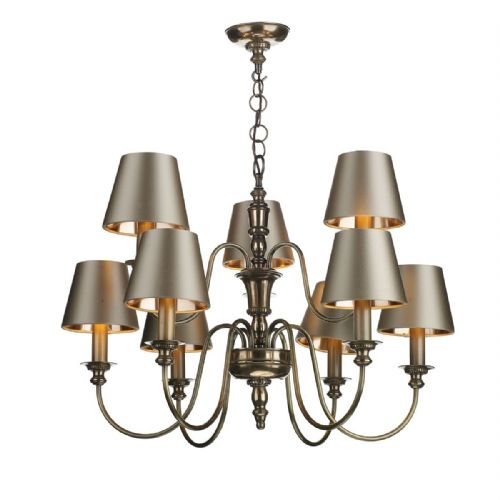 Dickens 9 Light Pendant Bronze DIC1363 (no shades) (7-10 day Delivery)